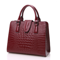Amasie Hot Selling Trendy Large Women Handbag Alligator Leather Brand Bag Crossbody Bag Sac A Main Red Tote 2 Size EGT0202