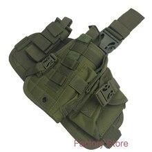 Tactical Nylon Pistol Leg Holster IPSC Paintball Molle Thigh Gun Holsters For 1911 M9  M92 HK USP Glock 17 19 P226 Green Black gun quick pulling nylon plastic waist holster for p226 black