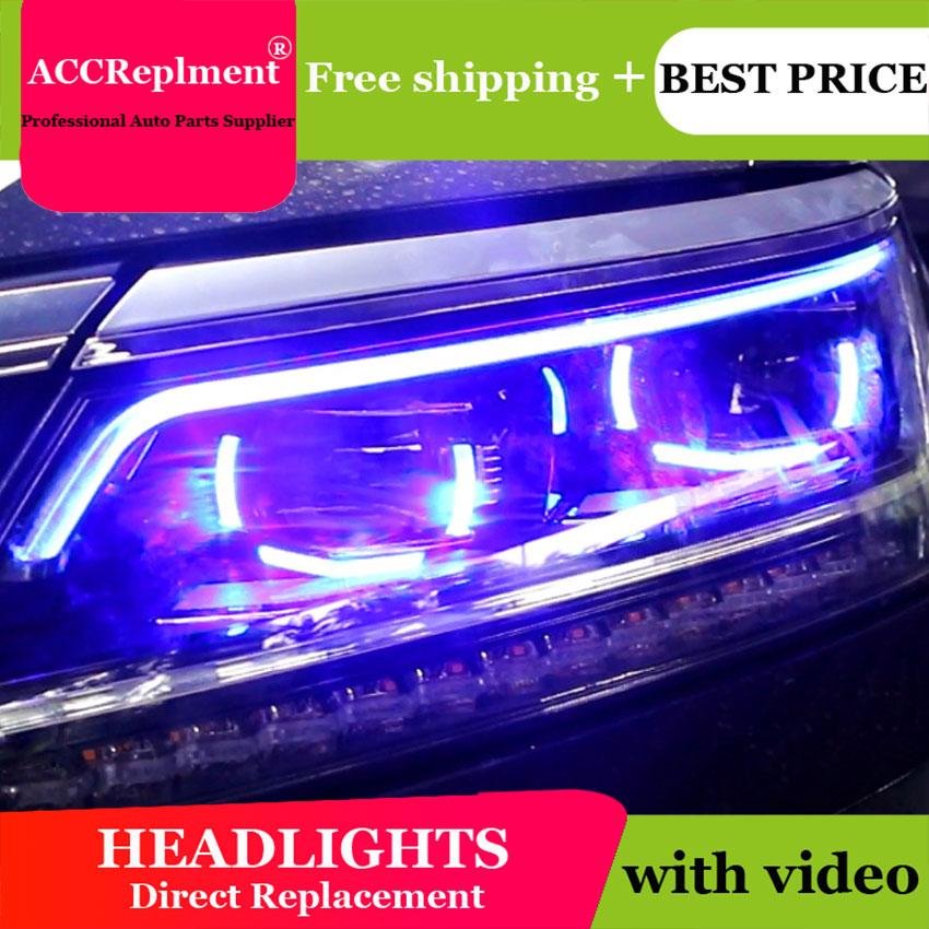 Car Styling Head Lamp for VW Passat B7 led headlights 2016 2017 Volks Wagen Passat B7 Headlight LED H7 hid Bi Xenon Lens low bea