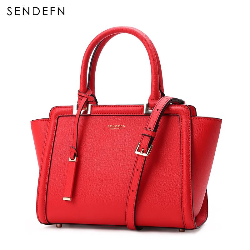 Image 2 - Sendefn 2018 nova pequena bolsa de ombro feminina luxo couro crossbody sacos feminino rosa bolsa de embreagem senhora clássico correntes aleta 6Bolsa a tiracolo   -