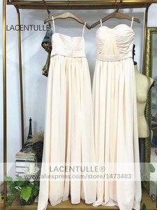 Image 3 - שרוולים קפלים ארוך שושבינה שמלה אלגנטי מקיר לקיר אורך פורמליות אירוע תחרות שמלה