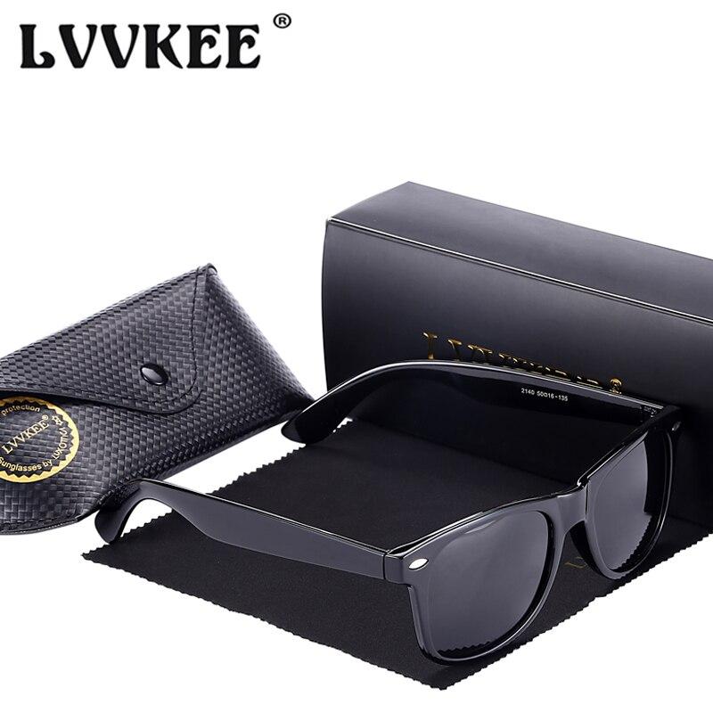 LVVKEE 2018 Moda Clássico Marca HD Polarizada Óculos De Sol Dos Homens Mulheres  Do Vintage UV400 óculos de condução Óculos de Sol Masculino feminino Oculos  ... 50dd426780
