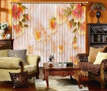 marble Flower pattern Photo 3D Curtains For Living room Blackout window room Bedroom Window Cortinas(China)