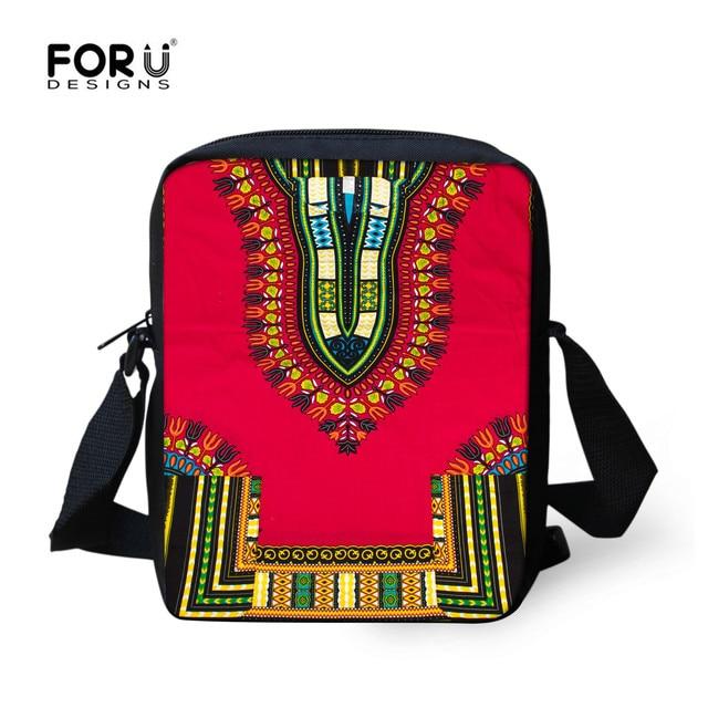 bb13b8e8d58b FORUDESIGNS Women Messenger Bag Retro African Traditional Printing  Crossbody Bags For Children Girls Summer Travel Handbags New