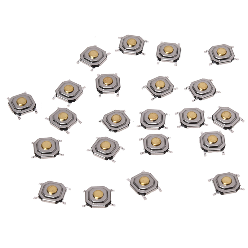 22pcs 4x4x1 5mm smt smd momentary tact tactile push button switch 4p