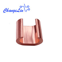 CCT-16/20/26/44/60 C-Shape Clamp C-type Connector Bundling Brass Copper Wire C Chuck Cable Branch Copper Joint Connection(China)