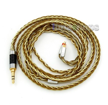Balanced Pure Silver Gold Plated 8 Cores Cable For 0.78mm pin W4r UM3x 1964 UM Etc. Custom Earphone