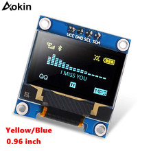 "0.96"" Inch Blue I2C IIC Serial 128x64 OLED LCD LED SSD1306 Module for Arduino Raspberry Pi Display(China)"