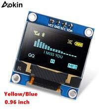 0.96 OLEDจอแสดงผลสีฟ้าI2C IIC Serial 128x64 OLED LCD LED ssd1309 0.91 นิ้วOLEDแสดงผลโมดูลสำหรับarduino Raspberry Piจอแสดงผล