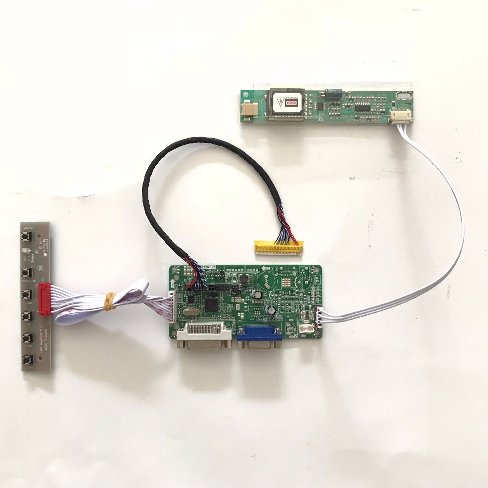 все цены на  RT2281 LCD repair controller Board DIY kit DVI VGA for 15.4 inch QD15TL01 1280x800 LCD screen Free shipping  онлайн