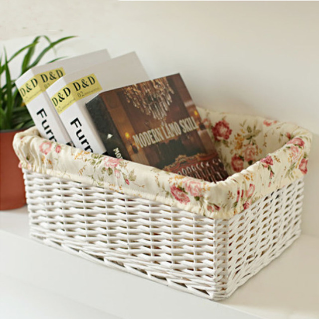 Aliexpresscom Buy Home Garden woven rattan basket storage box
