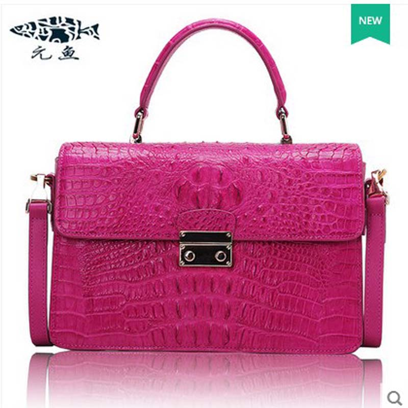 yuanyu 2018 new hot free shipping crocodile handbag  single shoulder bag women handbag ladies bag yuanyu 2018 new hot free shipping real thai crocodile women handbag female bag lady one shoulder women bag female bag