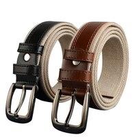 130cm 150cm Plus Size Designers Luxury Brand Femal PU Leather Woven Canvas Belts Men Male Waist
