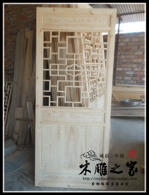 Dongyang wood carving wood made of antique Chinese style doors and Windows  partition lattice entrance TV - Dongyang Wood Carving Wood Made Of Antique Chinese Style Doors And