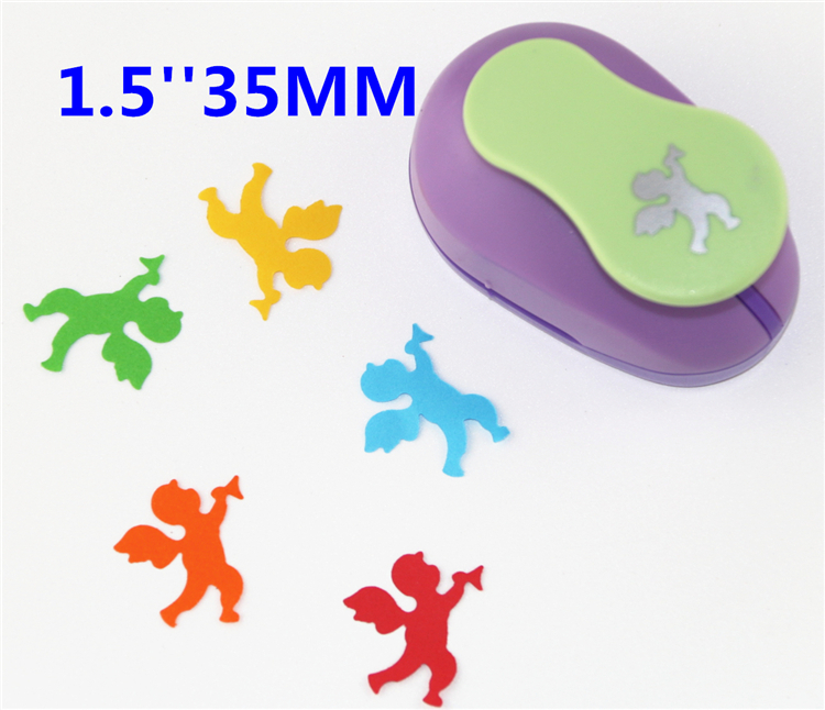 Angel 35mm paper cutter scrapbook Embossing device kid child craft tool diy  hole punch kraft punches cortador de papel  S2934-4 embossing diy corner paper printing card cutter scrapbook shaper small embossing device hole punch kids handmade craft gift yh31