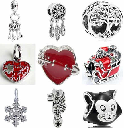Новое поступление полые дерево кошка Снежинка Ловец снов бусины-сердечки Fit Pandora талисманы браслеты для женщин Изготовление ювелирных изделий DIY