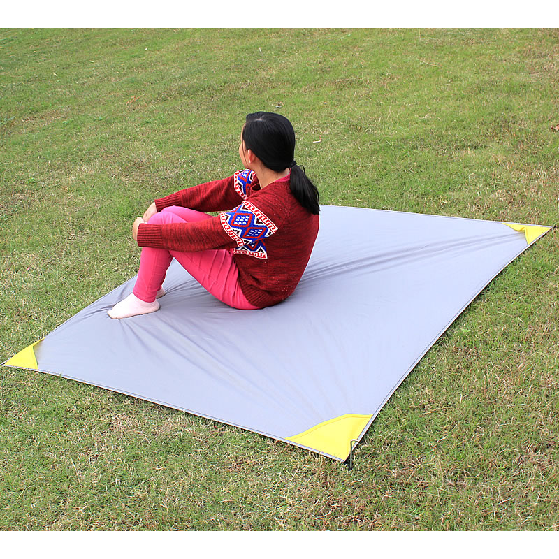 152*140cm Portable Mini Folding Pocket Blanket Camping Waterproof Picnic Mat Multifunction Outdoor Beach Mat Crawling Mat купить в Москве 2019