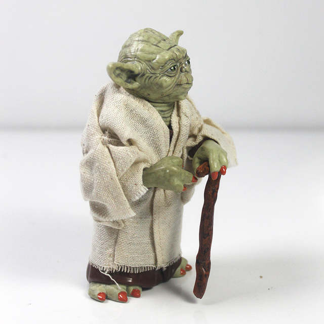 US $5 12 34% OFF|12cm Star Wars Jedi Knight Master Yoda PVC Action Figure  Collection Toy Yoda Darth Vader Action Toys For Children Christmas Gift-in