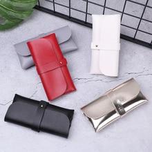1 шт. модный мужской женский портативный Чехол для очков с магнитной застежкой из искусственной кожи Складной футляр для очков большой размер сумка для солнцезащитных очков