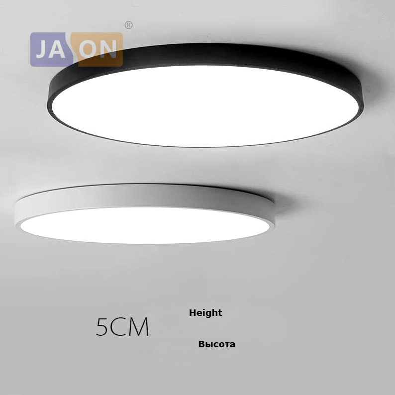 LED Modern Acryl Alloy Round 5cm Super Thin LED Lampa. LED Light.Ceiling Lights.LED Tak Light.Ceiling Lampa För Foyer Sovrum