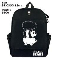 Cartoon We Bare Bears Panda Grizzly student School bag Casual canvas Backpack Fashion Rucksack Travel bag Shoulder Bag Bookbag