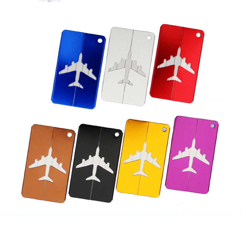 20pcs Travel Luggage Tags Accessories Baggage Label Straps Aluminium Suitcase Boarding Flight Address Luggage