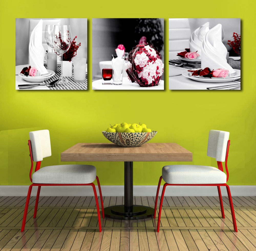 CLSTROSE 3 Pieces/set Ice Cream Canvas Painting Dessert Shop ...