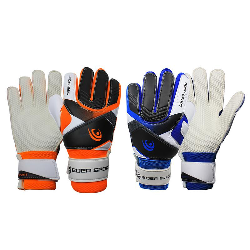 1 Pair of Teenagers Professional Goalkeeper Gloves for Football Game Goalkeeper Anti-Slip Finger Protection Thickened Gloves