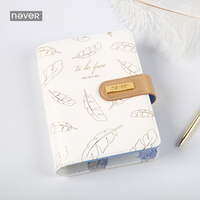 Never Gold Feather Series A6 Notebook & Journals Personal Diary Organizer Agenda Weekly Planner Gift Stationery School Supplies