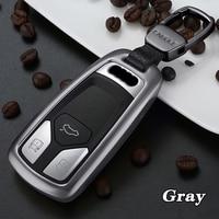 Car Key Case Aluminum Alloy Smart Key Cover Case Shell Storage Bag For Audi A4 A5 B9 Q3 Q5 Q7 4m TT TTS 8s Auto Key Accessories