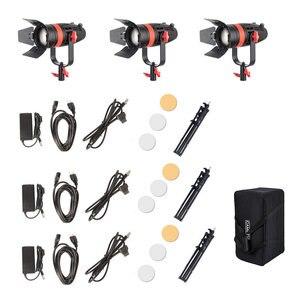 Image 5 - 3 Pcs CAME TV Boltzen 55 w Fresnel Fokussierbare LED Tageslicht Kit Mit Licht Steht