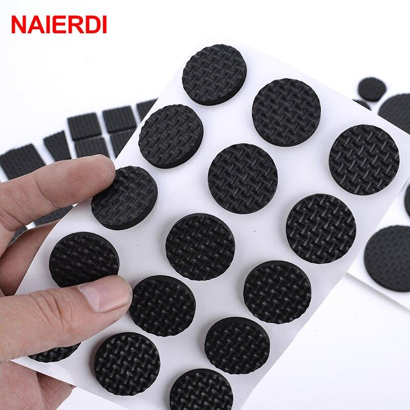 NAIERDI Anti Slip Mat Self Adhesive Furniture Pads Feet Rug Felt Pads Bumper Damper For Chair Table Protector Hardware-3