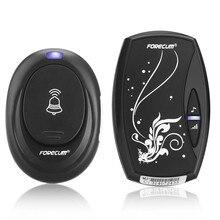 Waterproof Black EU Plug-in 220V Digital LED 36 Music Tune Melody Remote Control 1 Wireless Doorbell Door Bell