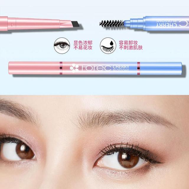 HanChan Rotatable Waterproof Eyebrow Pencil Natural Long Lasting Easy to Wear Eye Brow Pen Cosmetic Makeup Tool 1