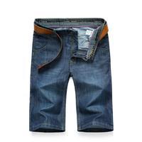 Summer Knee Length Lightweight Skinny Jeans Mens Jeans Brand-Clothing Short Jeans Mens Denim Jeans Slim Fit Men Shorts Casual