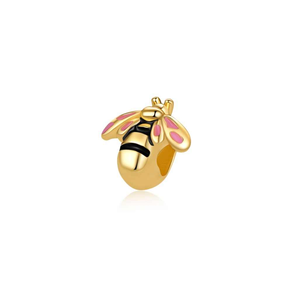 european 1pc love necklace pendant flower crown bee  bead charms Fit Pandora Charms Bracelet  for women diy jewelry EL088