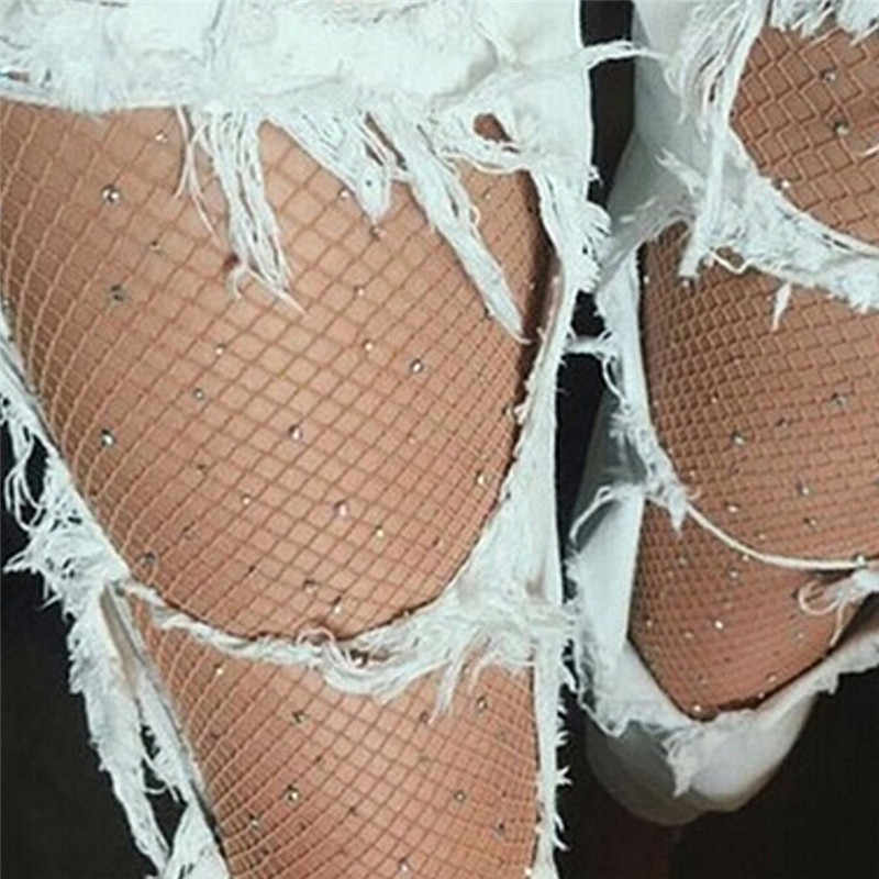 JCAAAP 여성 섹시 Fishnet 스타킹 란제리 피부 허벅지 높은 스타킹 긴 물고기 그물 팬티 스타킹 메쉬 스타킹