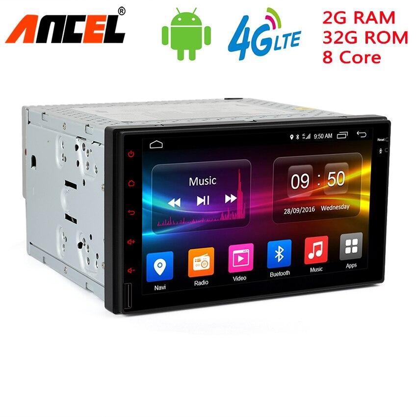 Ancel C500 7 1024HD Android Car Tap PC Tablet DVD Player 2 din Universal for Nissan Kia Hyundai Navigation Radio Audio Player блокада 2 dvd