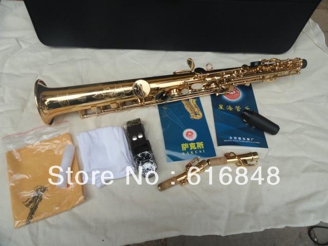 Wholesale xin hai Export gold plated soprano straight soprano saxophone saxophone