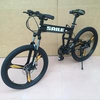 SAILE 24 21 27 Speed Top Quality Mountain Bike MTB Bicycle Integrated Wheel Disc Brake Fast