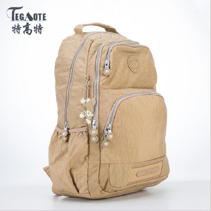 TEGAOTE 2019 Women Backpack For Teenage Girls Kipled Nylon Backpacks Mochila Feminina Female Travel Bagpack Schoolbag Women Bag