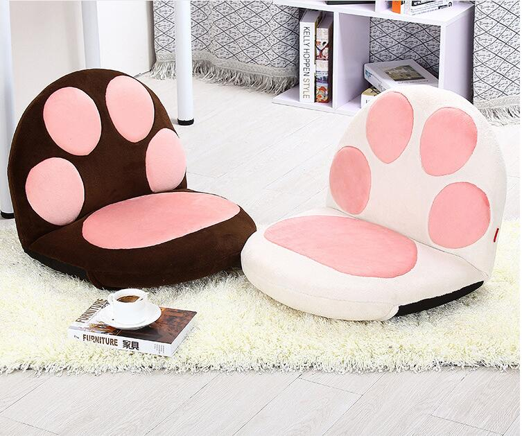 Paw Cushion Seat Foldable Floor Chair For Children Kids Furniture Modern Adjustable Portable Relax Leisure Relax Children Chair