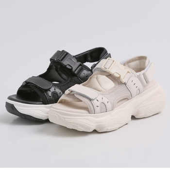 DORATASIA New INS Hot Brand Girl Buckle Platform Sandals Women 2019 Summer Genuine Leather Women Wedges Shoes Woman
