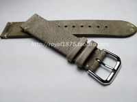 Thin style 18 19 20 21 22mm Retro Genuine Leather Handmade Men's excellent Watch Strap For branded watch Bracelet watchbands