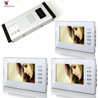 Yobang Security 7 Inches Color Wired Video Doorbell Door Chime Rainproof Door Phone For 3 White