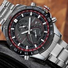 Marque de luxe Hommes D'affaires Militaire Montres Hommes de Quartz Heure Horloge Hommes En Acier Plein Montre-Bracelet Relogio Masculino 2016 Chaude