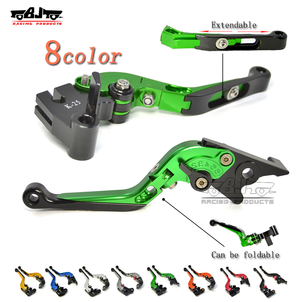 Bjmoto Motorcycle CNC Folding Extendable Adjustable Clutch Brake Levers For Kawasaki NINJA 250R NINJA 300R/Z300 Z250SL VERSYS for kawasaki ninja 250 ninja250 2008 2015 ninja 300 ninja300 2013 2015 motorcycle aluminum short brake clutch levers black