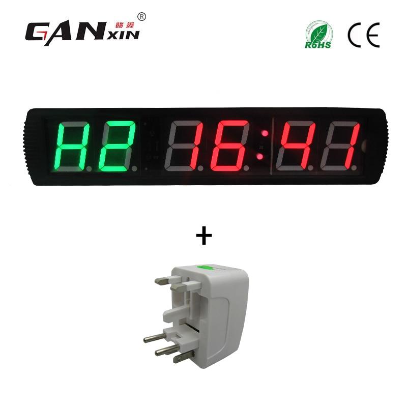 [Ganxin] 4-дюймовый тренажерный зал Кроссфит таймер, время тренировки и время отдыха, а также не будут поочередно - Цвет: GI2G4R-travel adapte