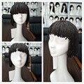 12inch 3X Box Braid wig Black Color Synthetic hair Neat bang Braiding wig short Micro Bob Box Braided Wigs For African American