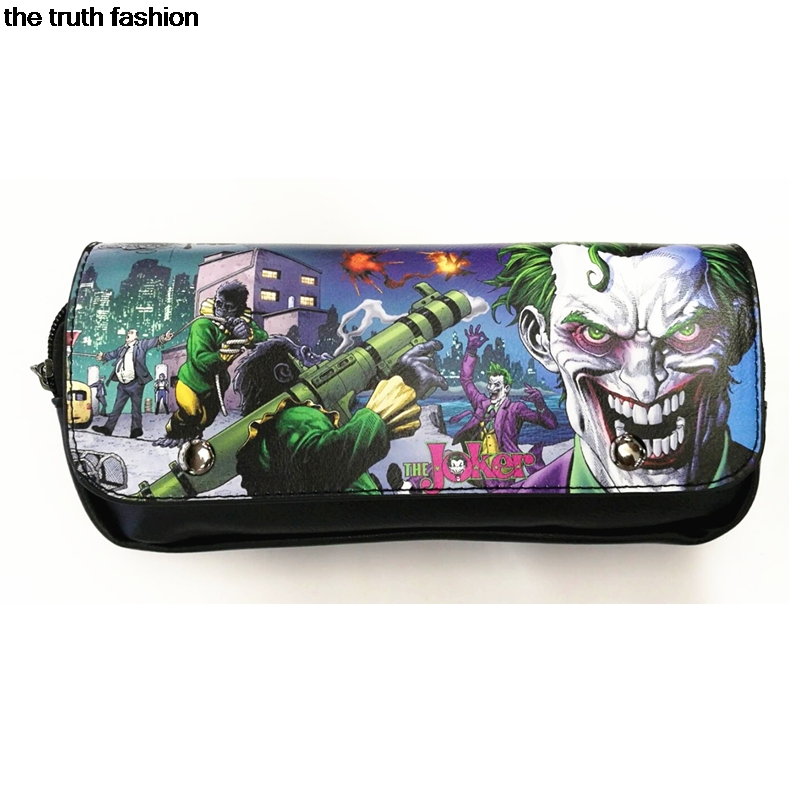Hasp Cover Design Cartoon Joker Suicide Squad Cosmetic Bags Women Daily Use Makeup Bags For Girls Female Zipper Cosmetics Case